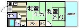 大阪府寝屋川市高柳2丁目の賃貸アパートの間取り