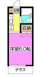 祇園ハイツ[1階]の間取り