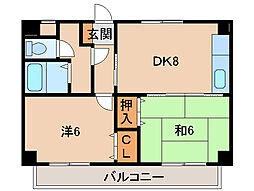 水原マンション[3階]の間取り