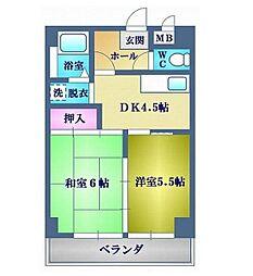 神奈川県横浜市磯子区久木町の賃貸マンションの間取り