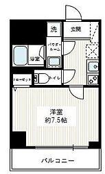 東京都荒川区東日暮里1丁目の賃貸マンションの間取り