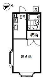 東京都目黒区祐天寺1丁目の賃貸アパートの間取り
