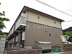 東京都西多摩郡日の出町大字大久野の賃貸アパートの外観