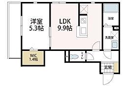 神奈川県川崎市幸区戸手本町2丁目の賃貸アパートの間取り