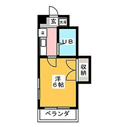 覚王山Kハイト[3階]の間取り