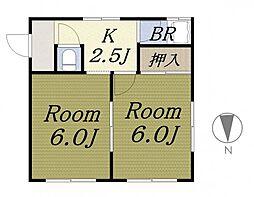 真木マンション[2階]の間取り