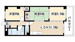 愛知県名古屋市緑区曽根1丁目の賃貸マンションの間取り