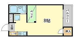 兵庫県姫路市新在家本町4丁目の賃貸アパートの間取り