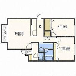 ディアガーデンA[2階]の間取り
