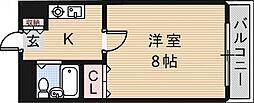 大阪府東大阪市友井4丁目の賃貸マンションの間取り