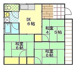 幸荘[2F号室]の間取り