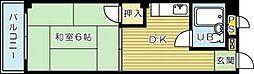 小川レジデンス2[201号室]の間取り