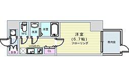 Osaka Metro長堀鶴見緑地線 松屋町駅 徒歩7分の賃貸マンション 1階1Kの間取り