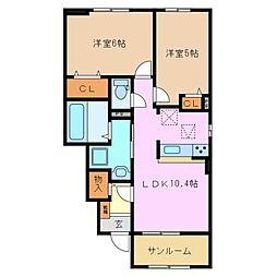 プライム・アプローズ Y II[1階]の間取り