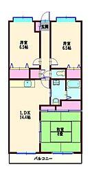 コルビュジェ湘南台[4階]の間取り