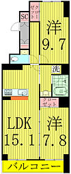 HOUSE・北柏1号棟〜ハウスキタカシワ1ゴウトウ〜[602号室]の間取り