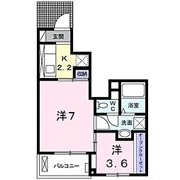 テラス SSKII[1階]の間取り