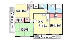 兵庫県神戸市中央区若菜通6丁目の賃貸マンションの間取り