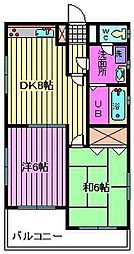 サンライト松本[102号室]の間取り