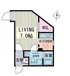 東京都品川区西品川2丁目の賃貸マンションの間取り