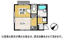 埼玉県鴻巣市宮地2丁目の賃貸アパートの間取り
