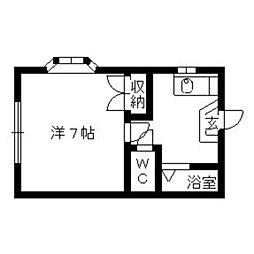 コーポ千寿[101号室]の間取り