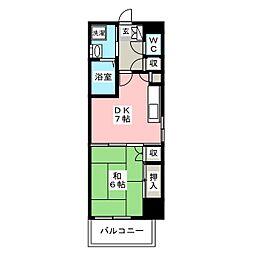 西田ビル[4階]の間取り