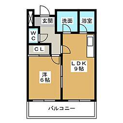 Limpia垂木[1階]の間取り