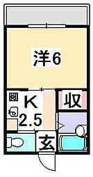 コーポ和久[305号室]の間取り
