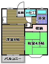 ハイツエンデバーI[2階]の間取り