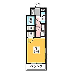 フジマンション平針[3階]の間取り