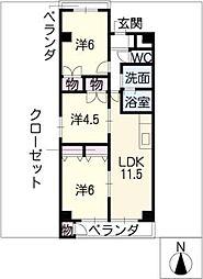 カスティージョ・ナカヌマ[2階]の間取り