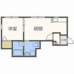 J・s  court東札幌[1階]の間取り