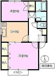 長野県長野市大字南堀の賃貸アパートの間取り