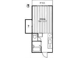 エクセルコーポ[2階]の間取り