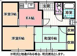 [一戸建] 長野県飯田市松尾城 の賃貸【/】の間取り