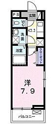 ミニョンダンジュ II 1階1Kの間取り