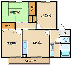 兵庫県尼崎市武庫之荘本町3丁目の賃貸アパートの間取り