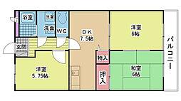ファミール岸和田[0303号室]の間取り
