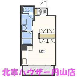 UURコート札幌南三条プレミアタワー[9階]の間取り