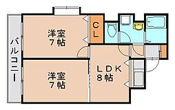 エステートモア博多駅前[6階]の間取り