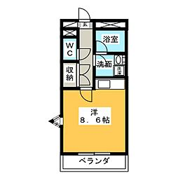 メゾンドF[3階]の間取り