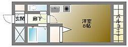 コンフォデンス北堀江[3階]の間取り