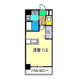 ロイヤルリバー[4階]の間取り