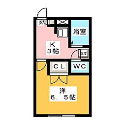 アンプルールブワK・K[2階]の間取り