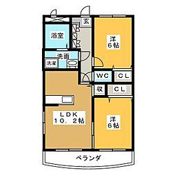 カンターレ・K[1階]の間取り