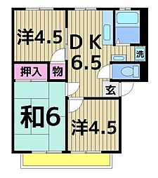 櫻シティーA[101号室]の間取り