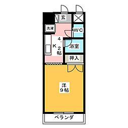 ドミール21EAST[3階]の間取り
