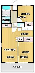 ルネスTANAKAⅡ[605号室]の間取り