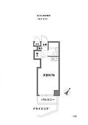KEIYU APERTMENT[103号室号室]の間取り